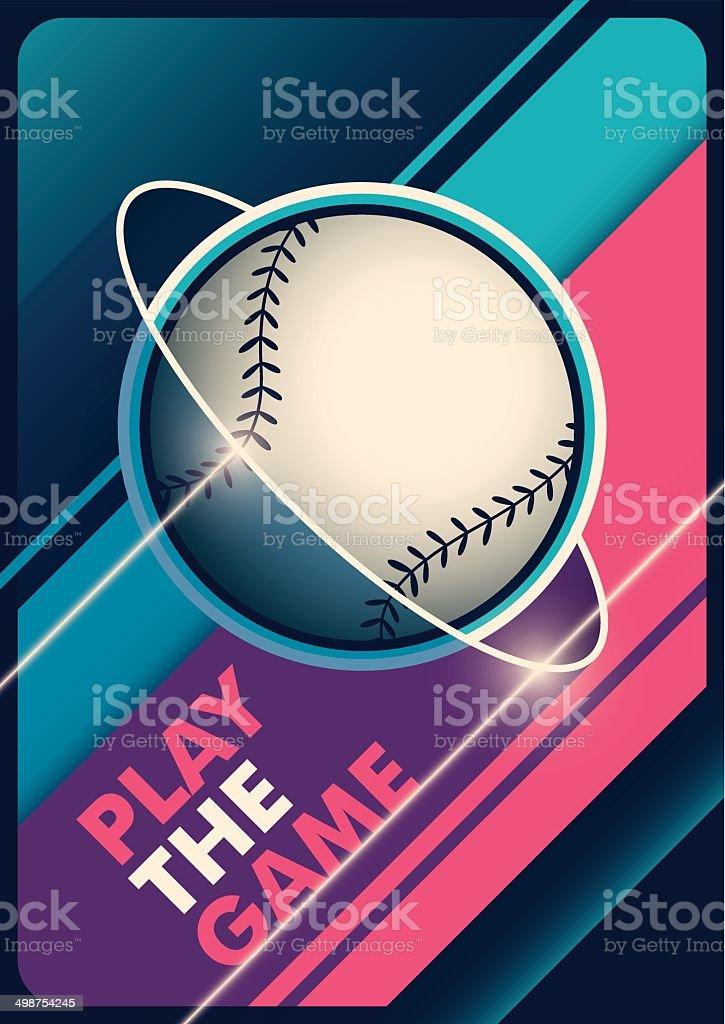 Modern baseball poster design. royalty-free stock vector art
