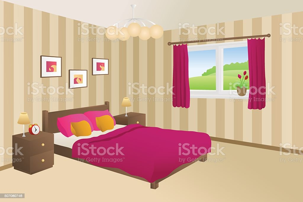 Camera Da Letto Giallo : Camera da letto floreale giallo u foto stock murdocksimages