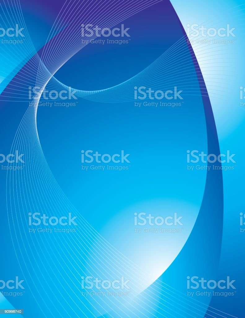 Modern blue background with abstract lines royalty-free stock vector art