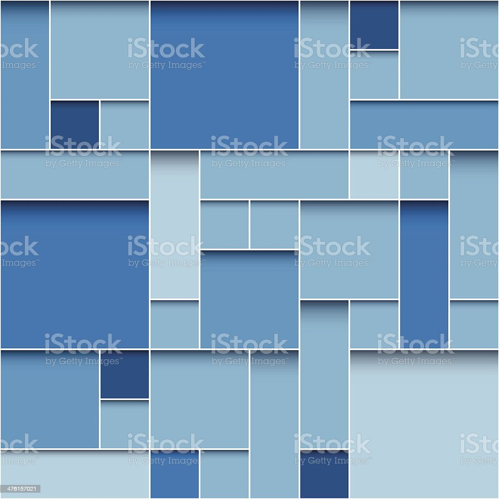 modern blue boxes background vector art illustration