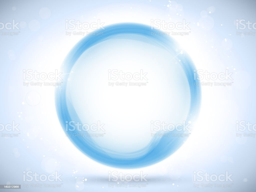 Modern Blue Circle Glowing Effects royalty-free stock vector art