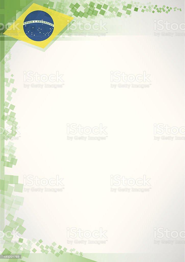 Modern brazil poster vector art illustration