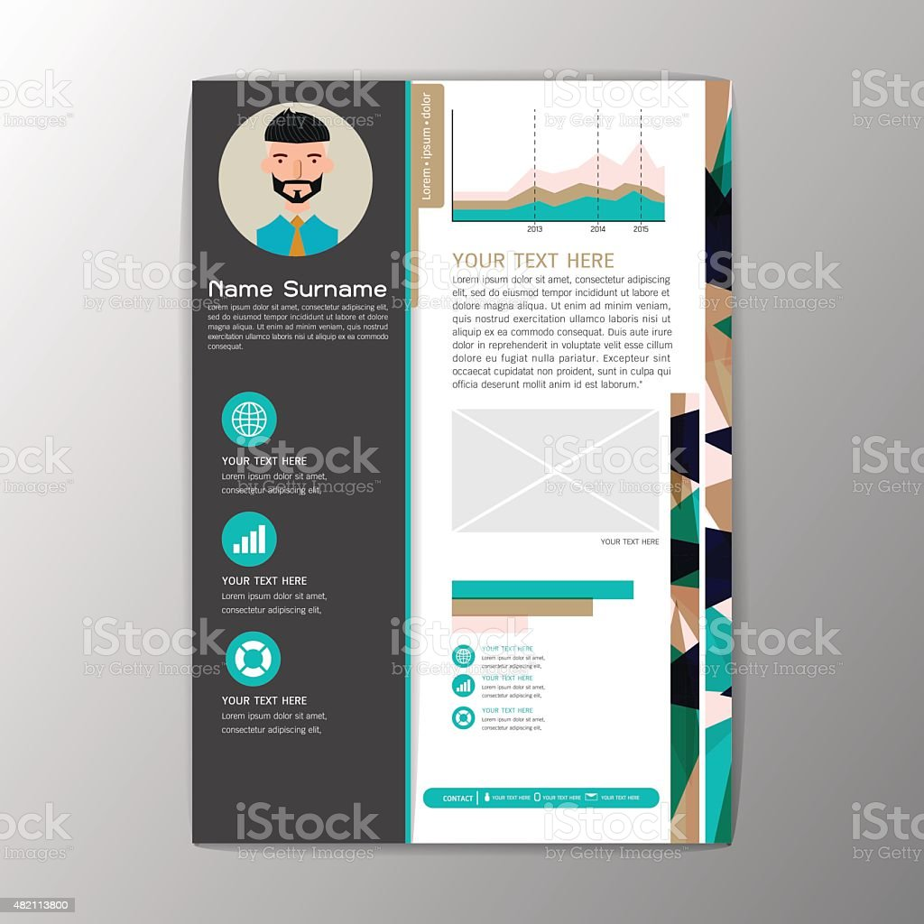 modern brochure business flyer design resume template abstract 1 credit