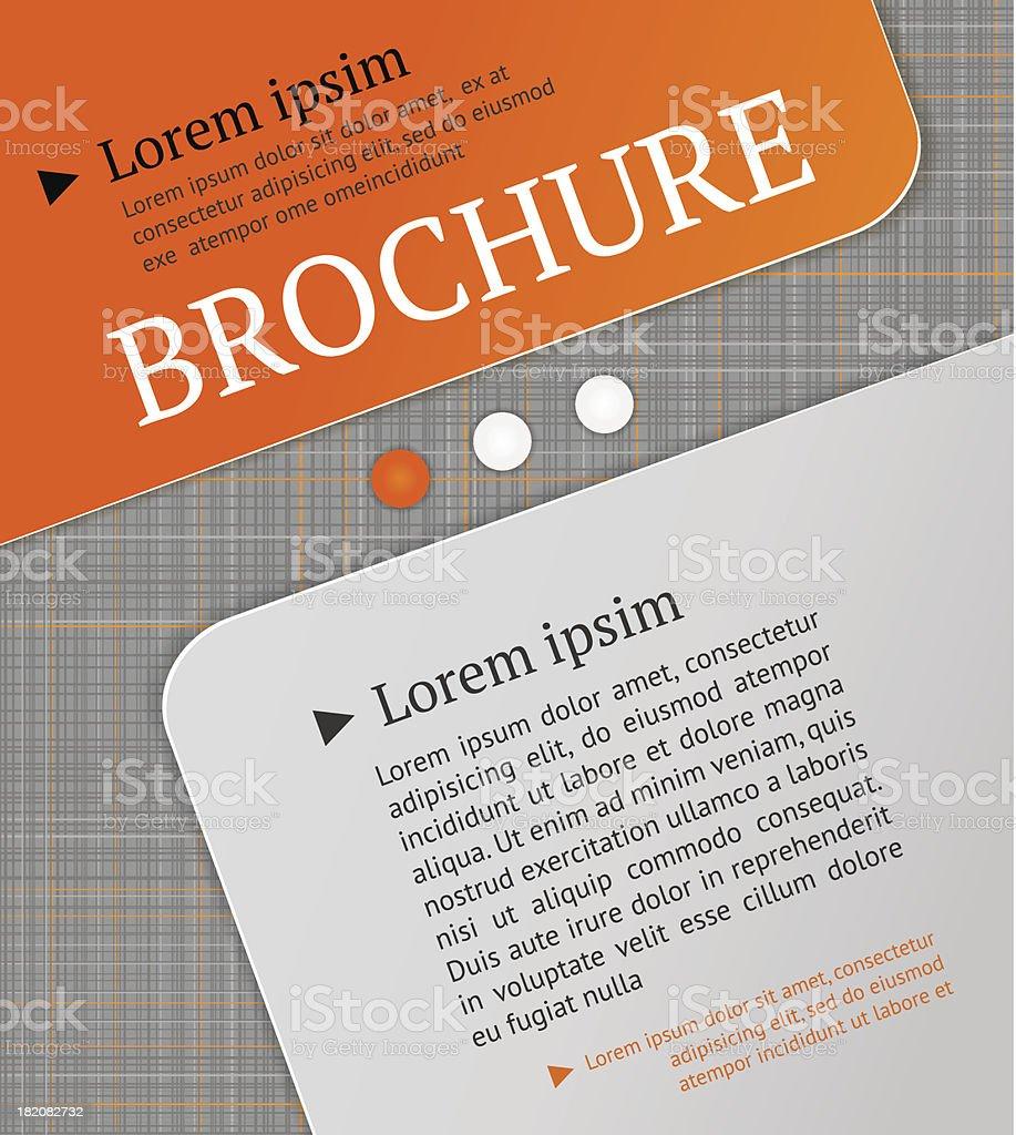 Modern brochure design template. royalty-free stock vector art