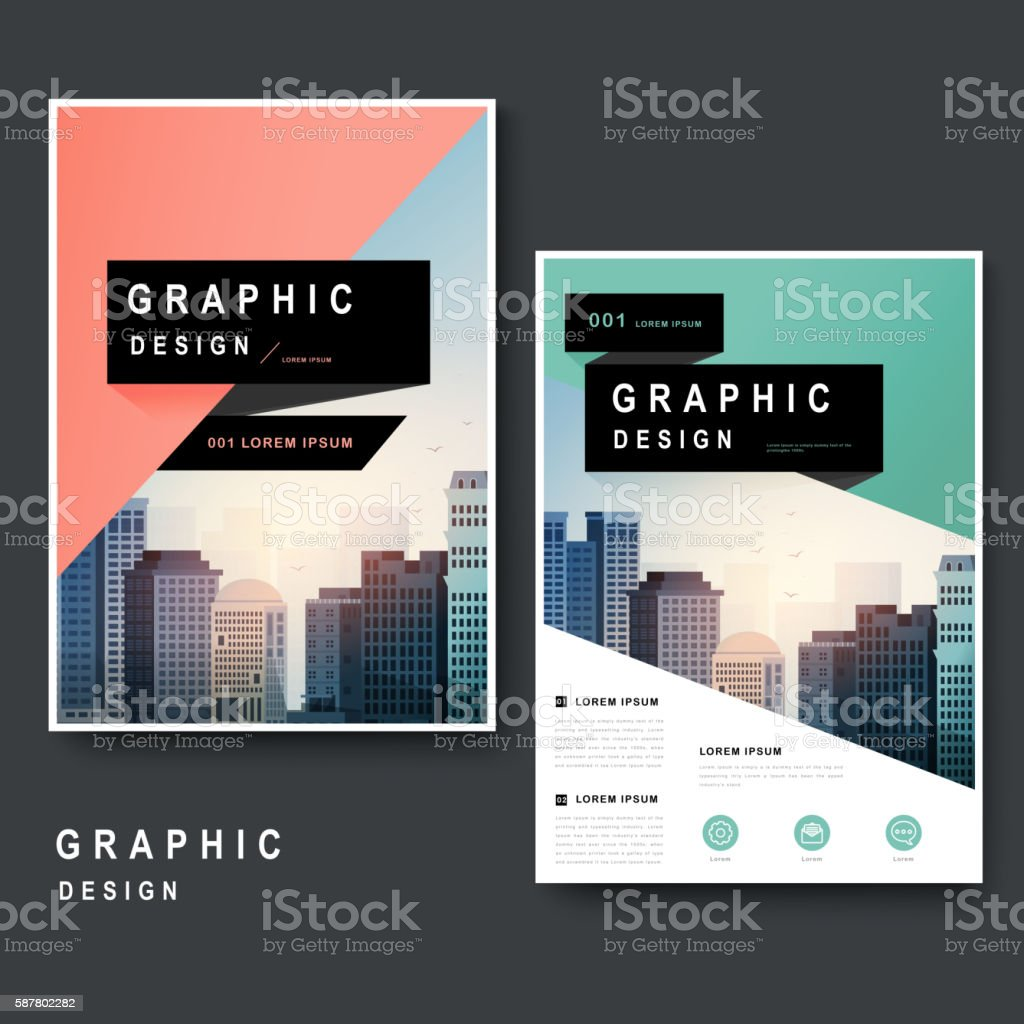 Modern brochure design vector art illustration