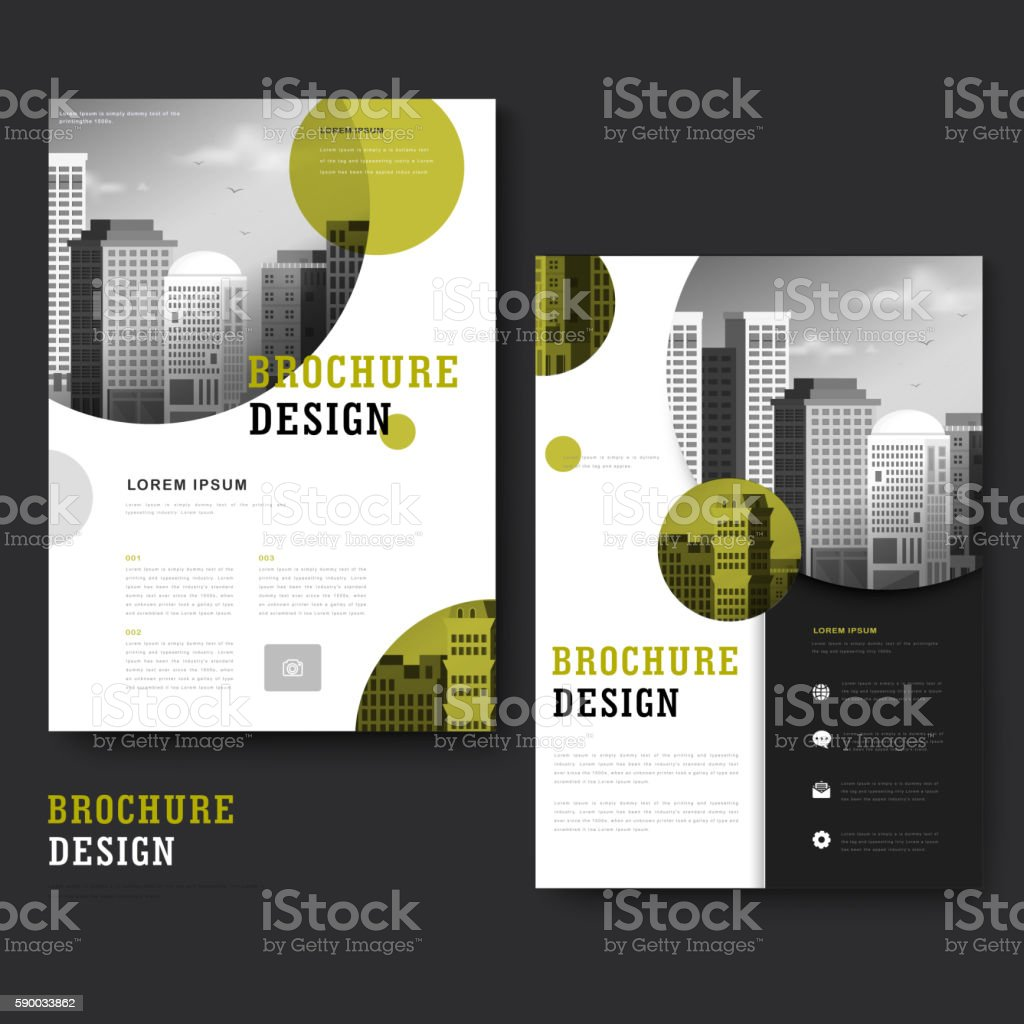 Modern brochure template vector art illustration