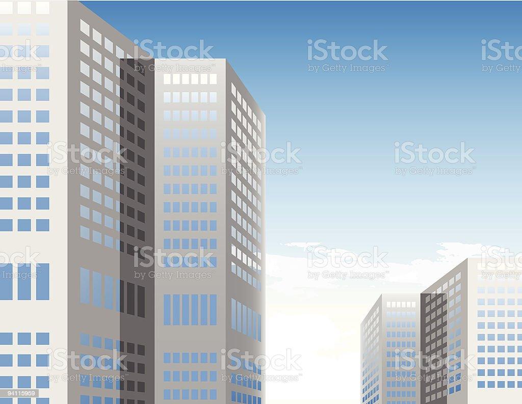modern buildings royalty-free stock vector art
