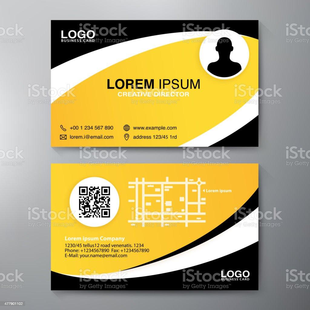 Modern Business card Design Template. vector art illustration