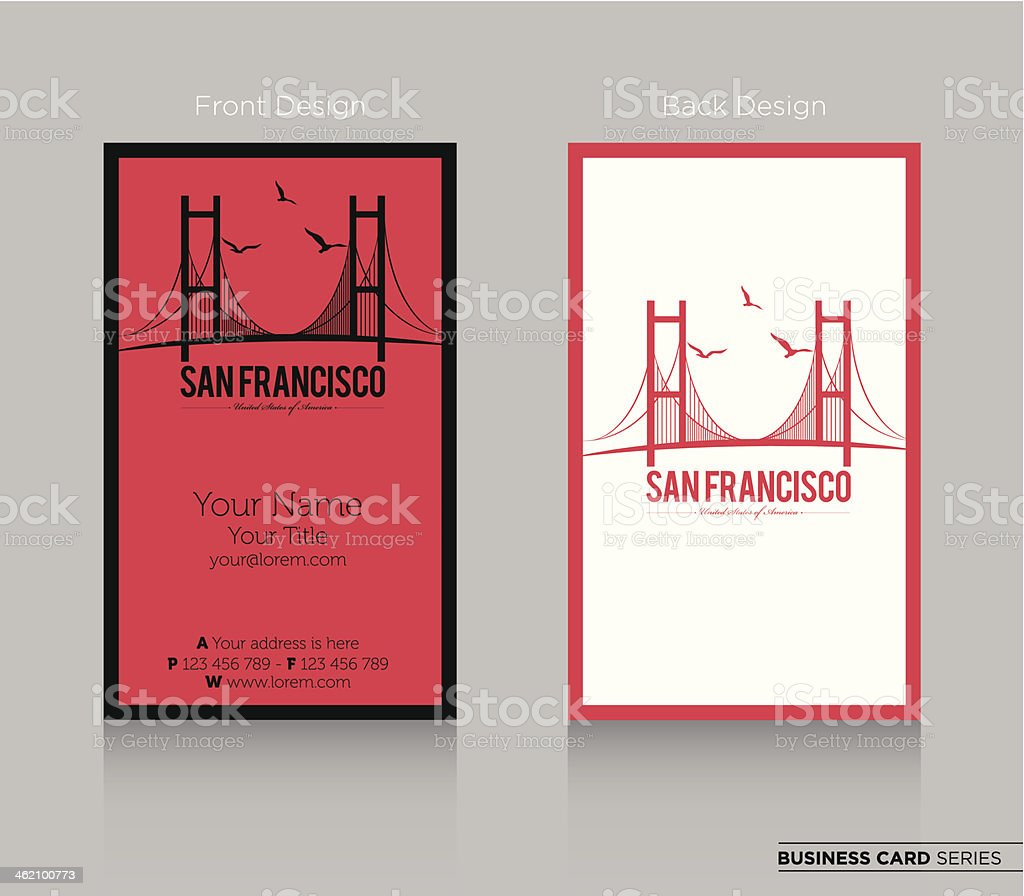 Modern Business Card Design vector art illustration