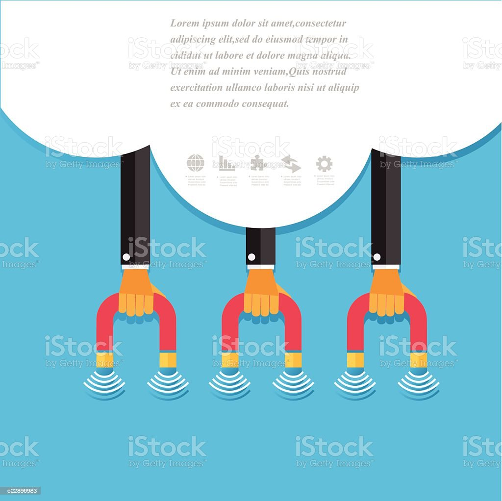 Modern business concepts in flat design vector art illustration