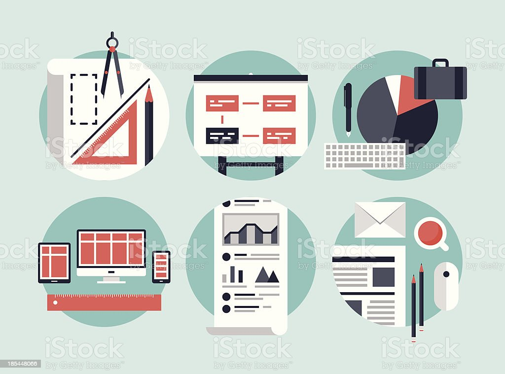 Modern business development process royalty-free stock vector art