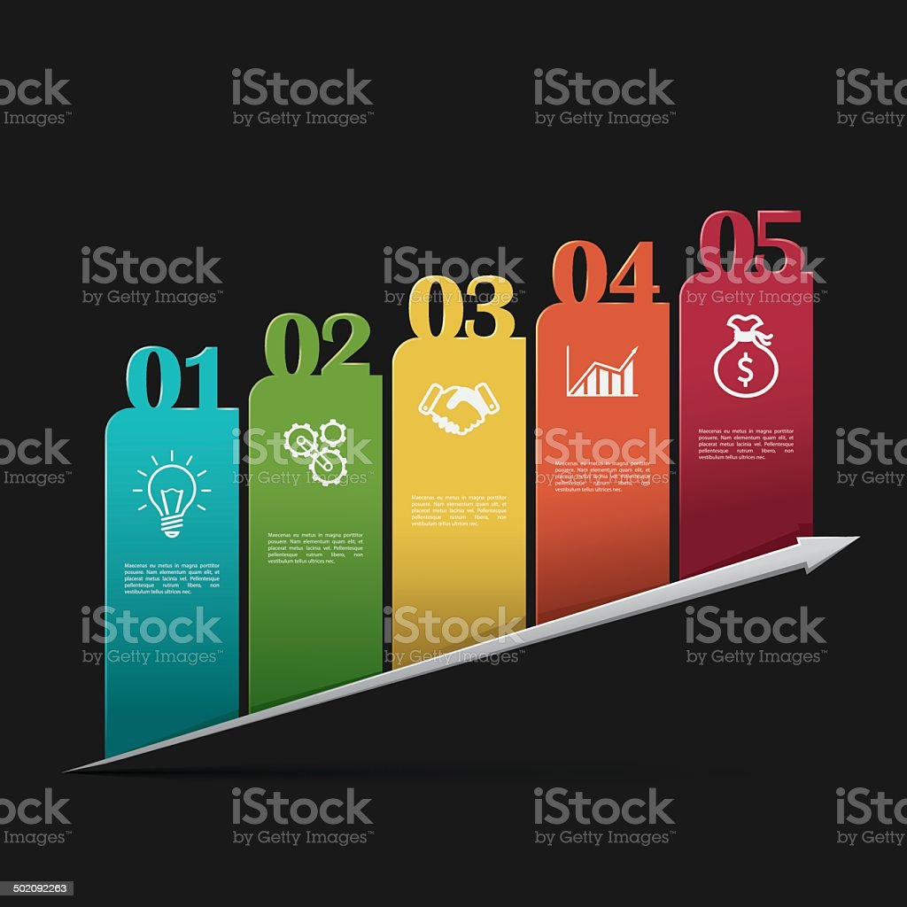 Modern business infographics template royalty-free stock vector art
