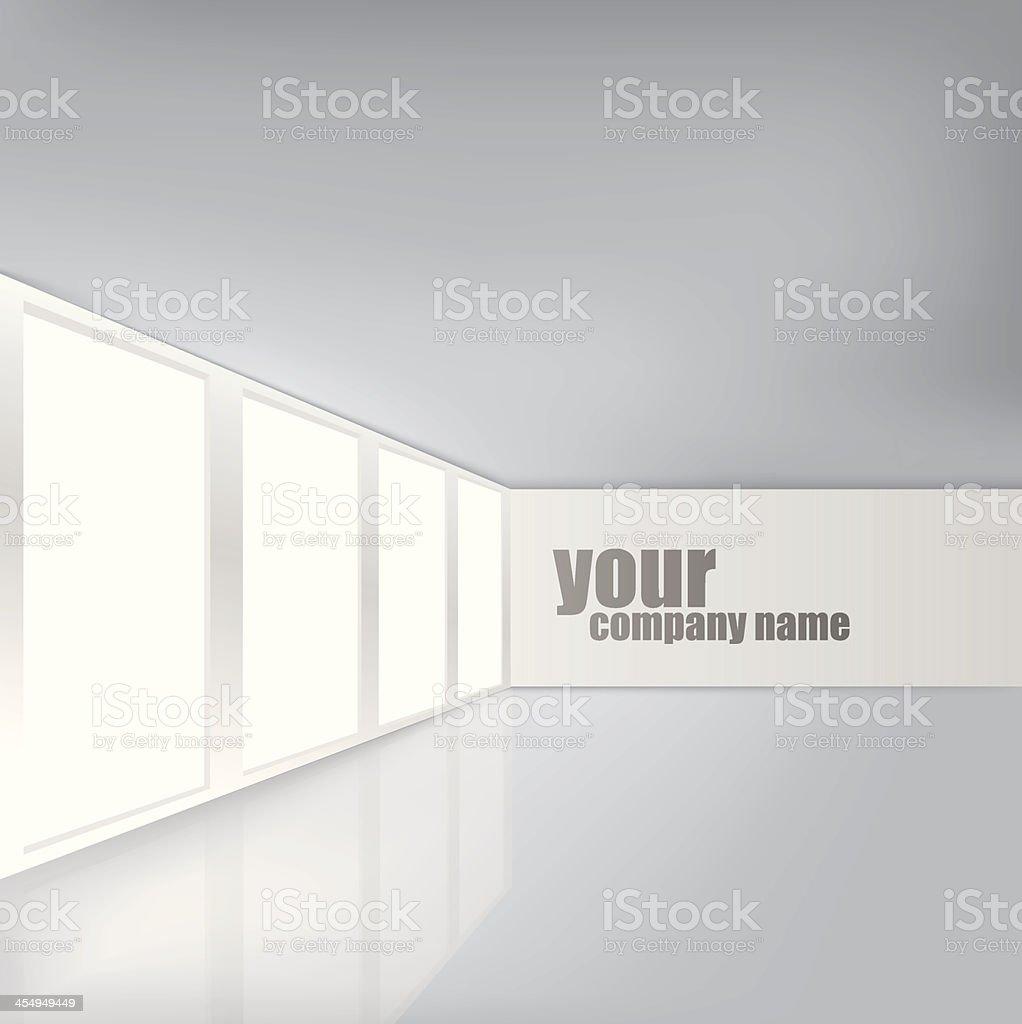 Modern Business Interior vector art illustration