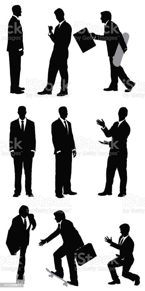 Modern businessman vector images vector art illustration