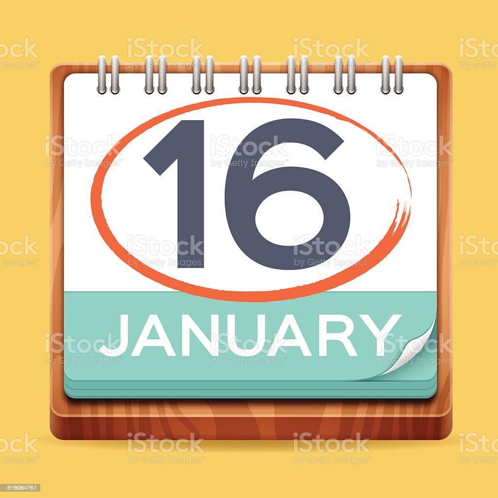 Modern Calendar vector art illustration