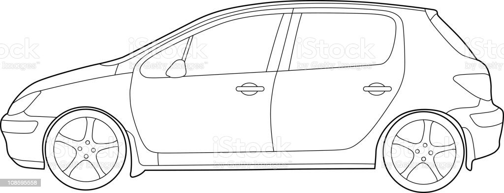 Modern Car Detailed royalty-free stock vector art