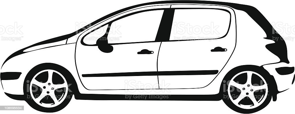 Modern Car Stencil royalty-free stock vector art