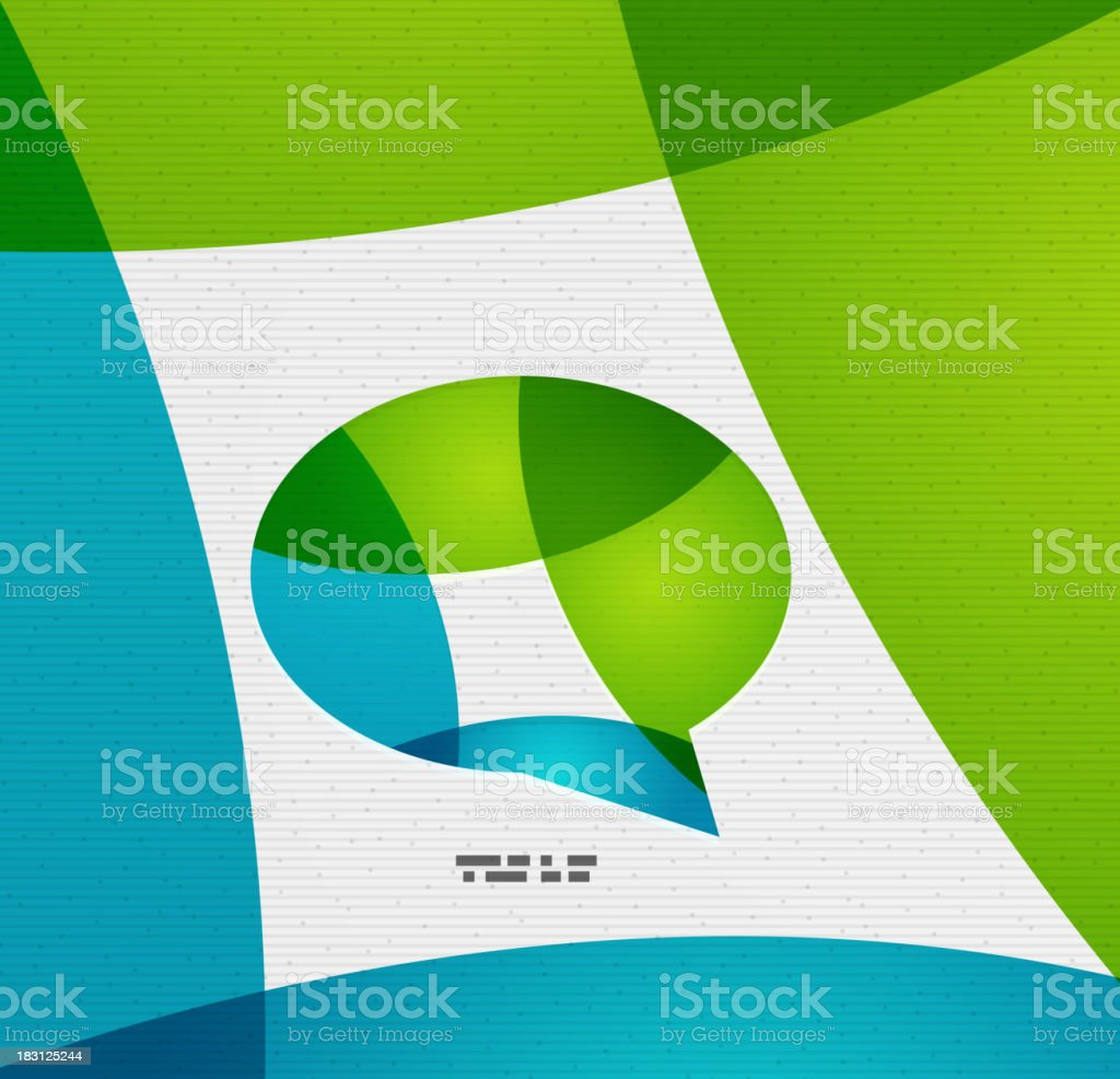 Modern chat / conversation paper template royalty-free stock vector art