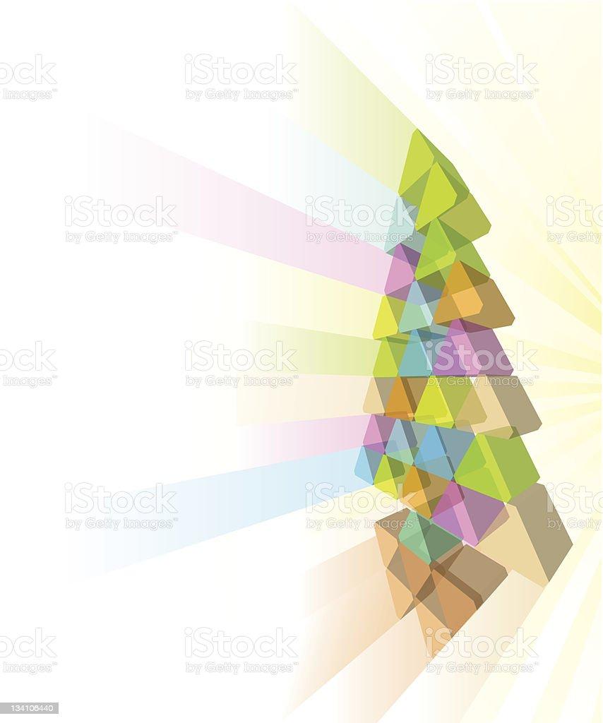 Modern Christmas tree concept royalty-free stock vector art