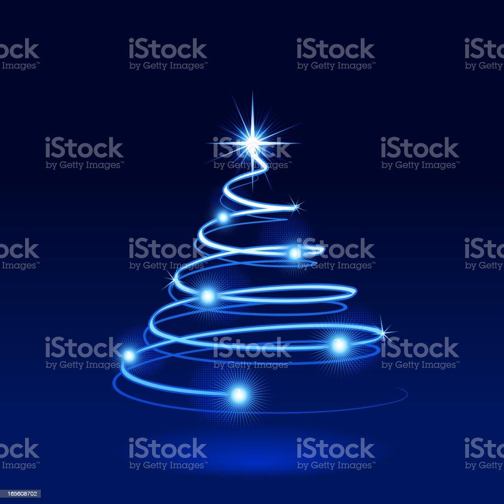 Modern christmas tree royalty-free stock vector art