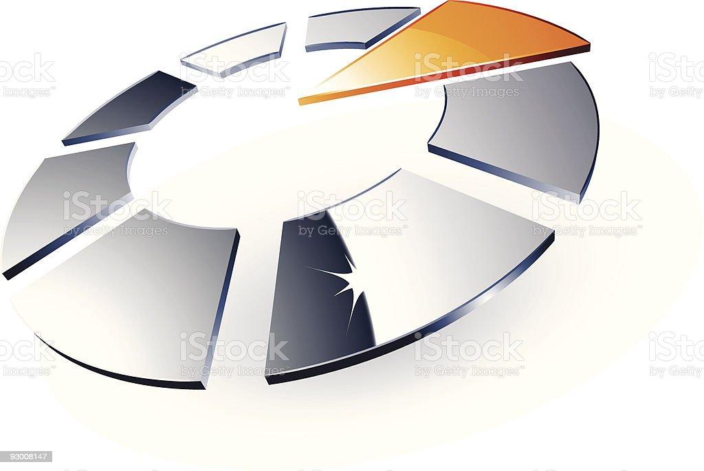 Modern chrome design royalty-free stock vector art