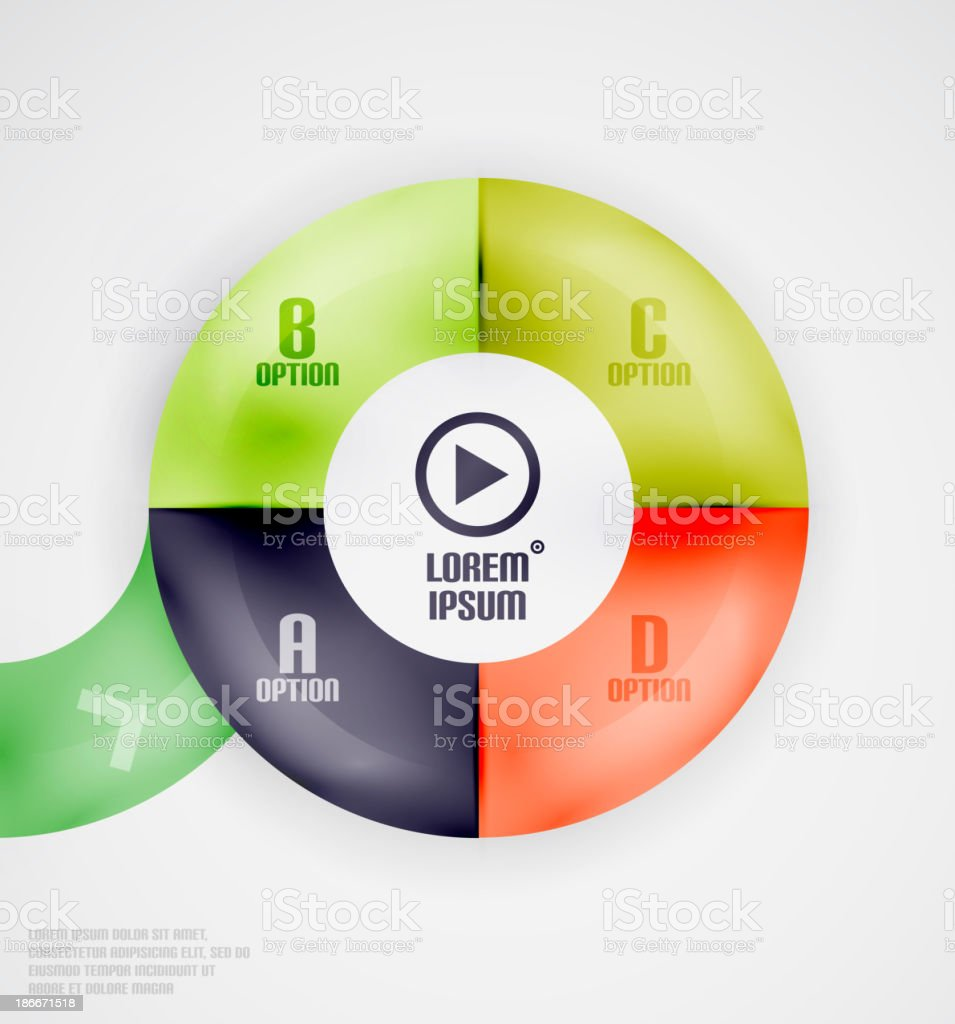 Modern circles infographic template royalty-free stock vector art