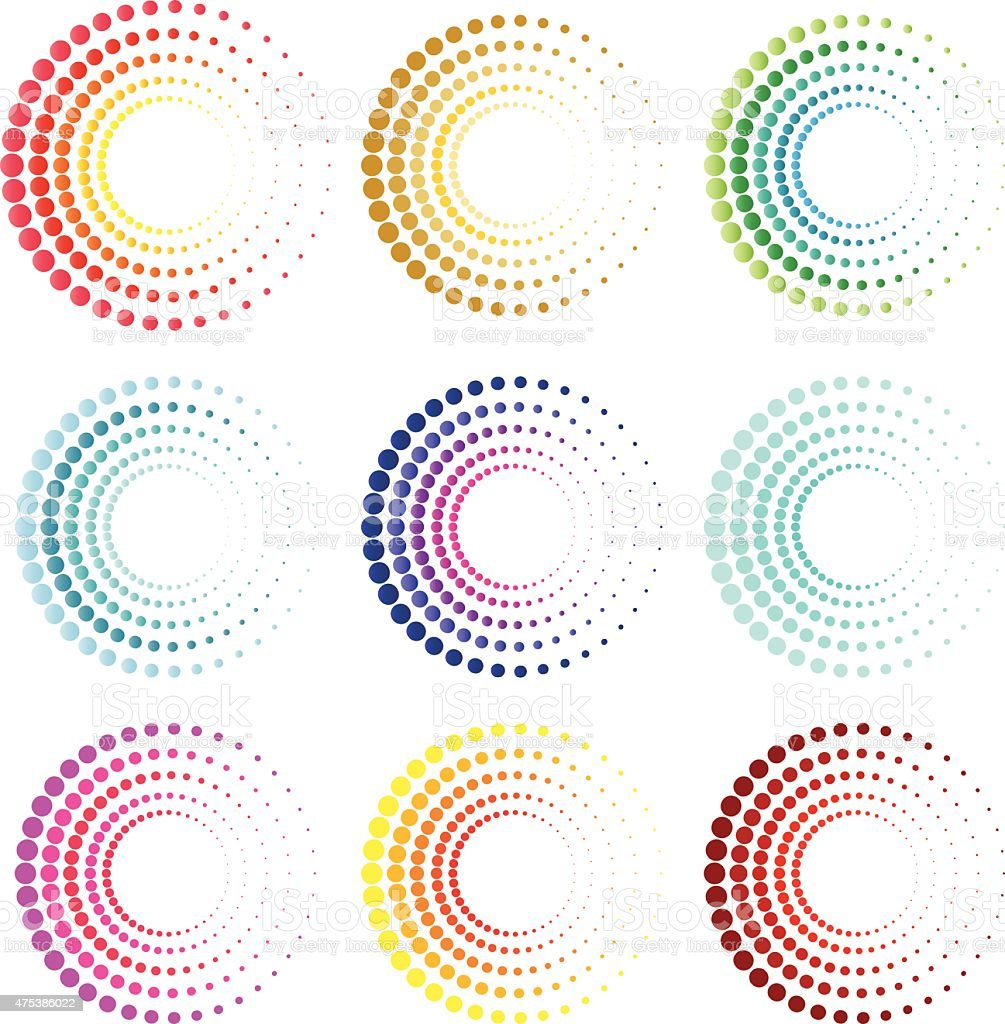 Modern circles symbol and icon vector art illustration