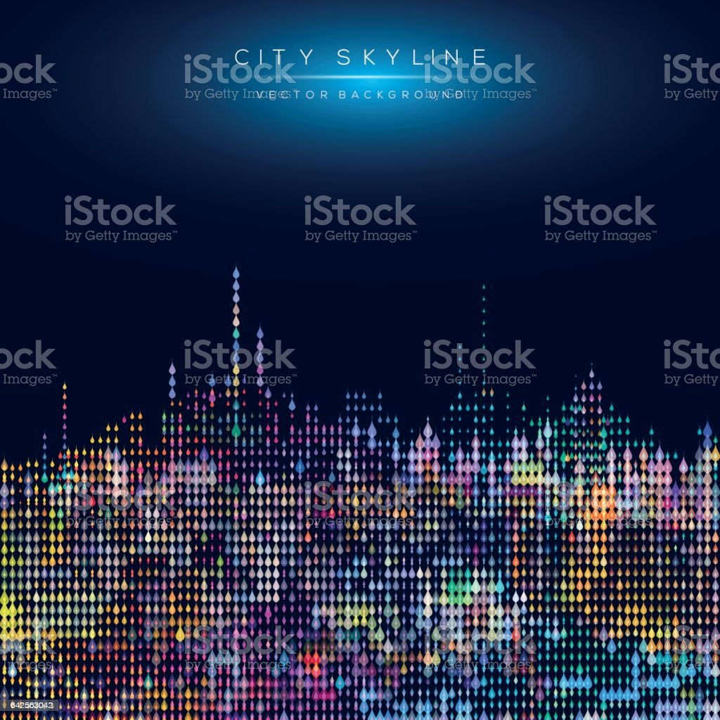 Modern city life abstract background design with geometric shapes. vector art illustration