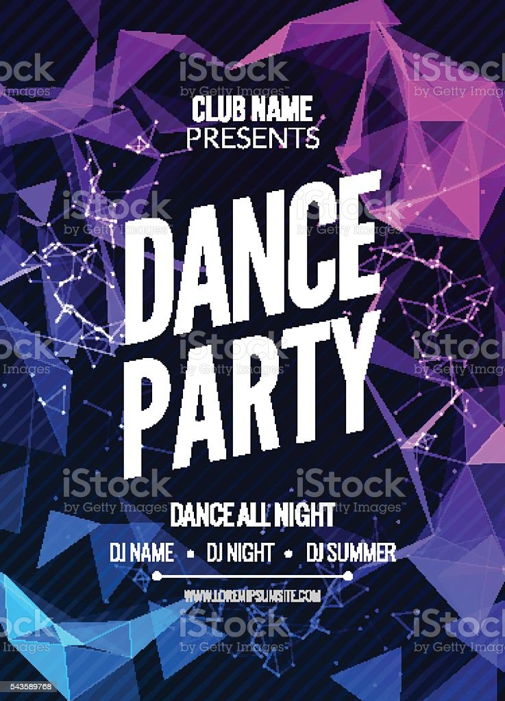Modern Club Music Party Template, Dance  Flyer, brochure. Night   sound vector art illustration