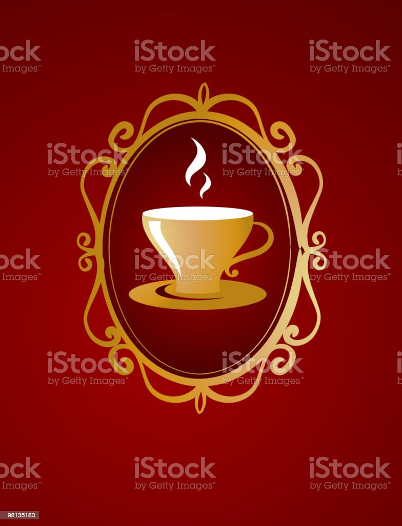 Modern coffee / tea  background royalty-free stock vector art