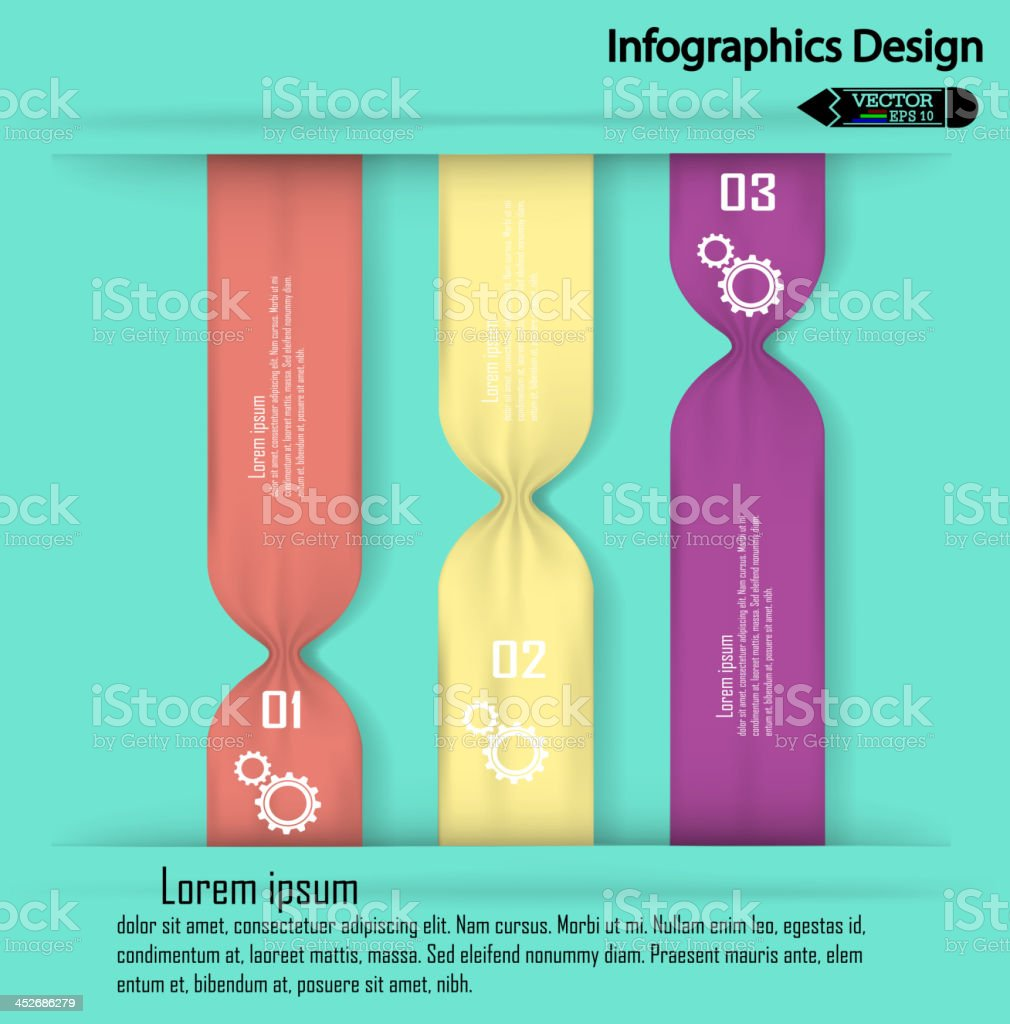Modern colorful infographics options banner. royalty-free stock vector art