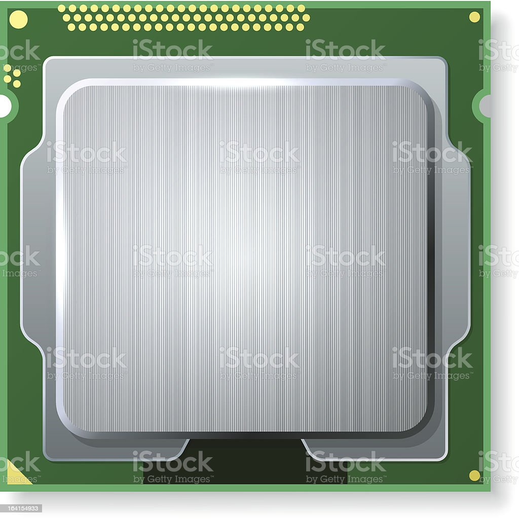 Modern computer CPU royalty-free stock vector art