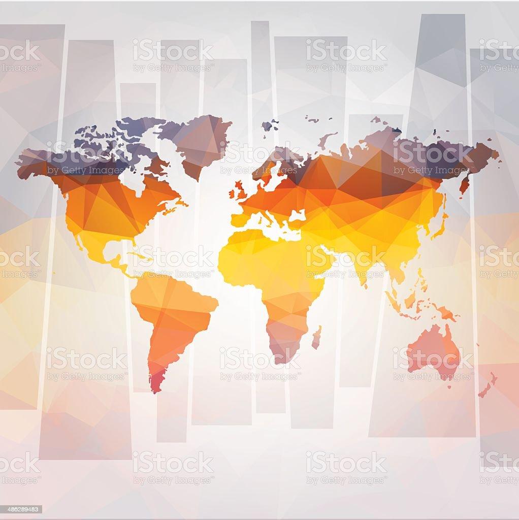 Conceito moderno de vetor mapa-múndi vetor e ilustração royalty-free royalty-free