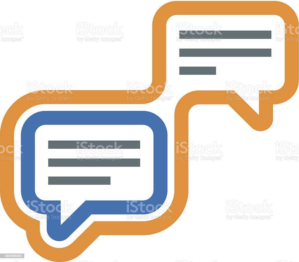 Modern conversation social network community logo icon royalty-free stock vector art