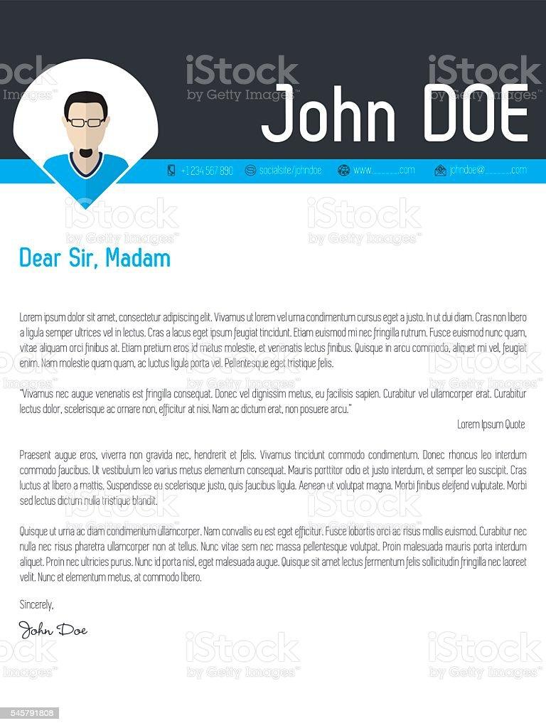 modern cover letter resume cv template stock vector art 545791808 1 credit
