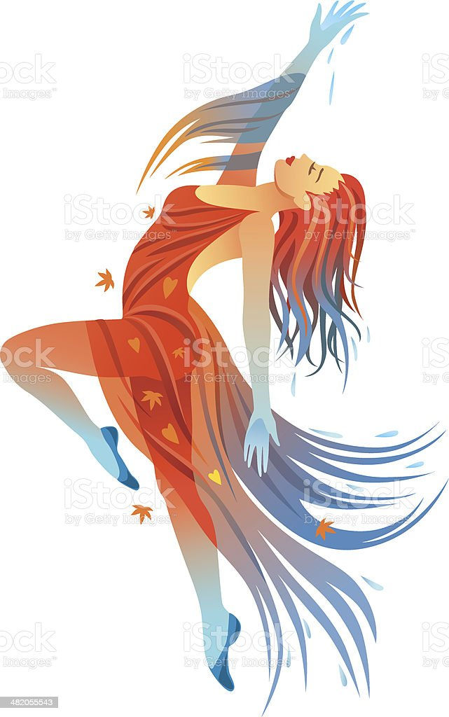 Modern Dance autumn royalty-free stock vector art