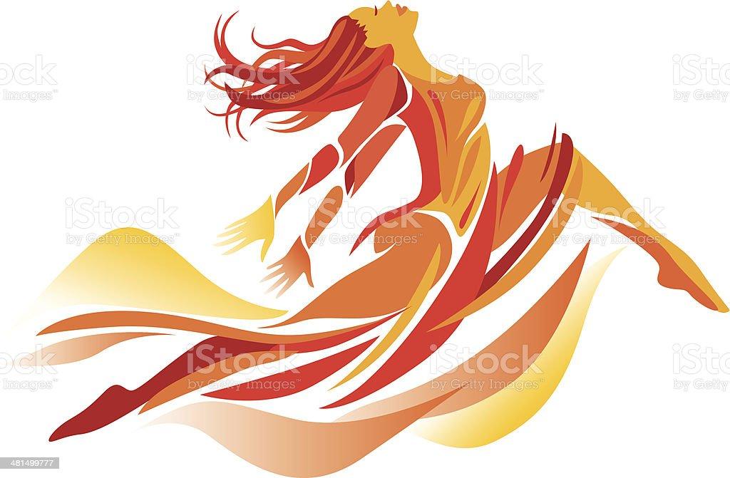 Modern Dancing vector art illustration