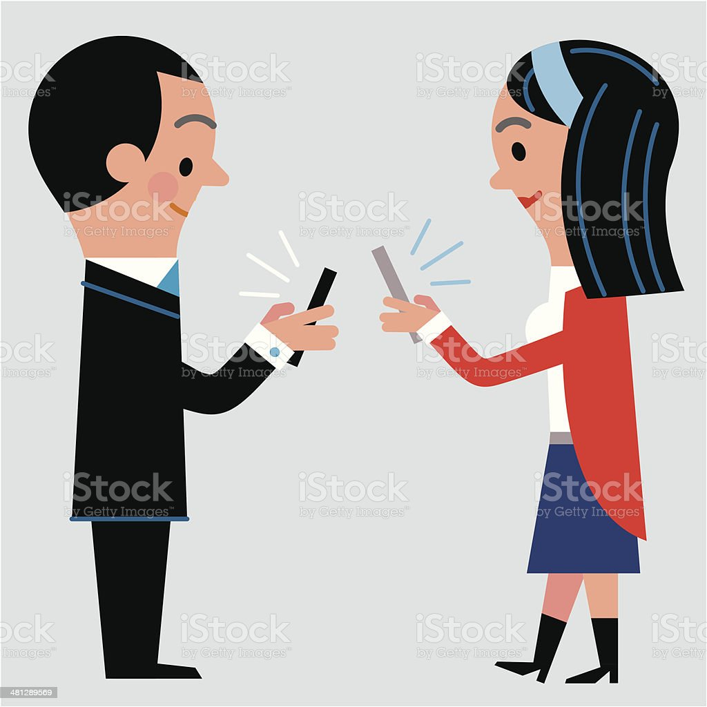 Modern Dating vector art illustration