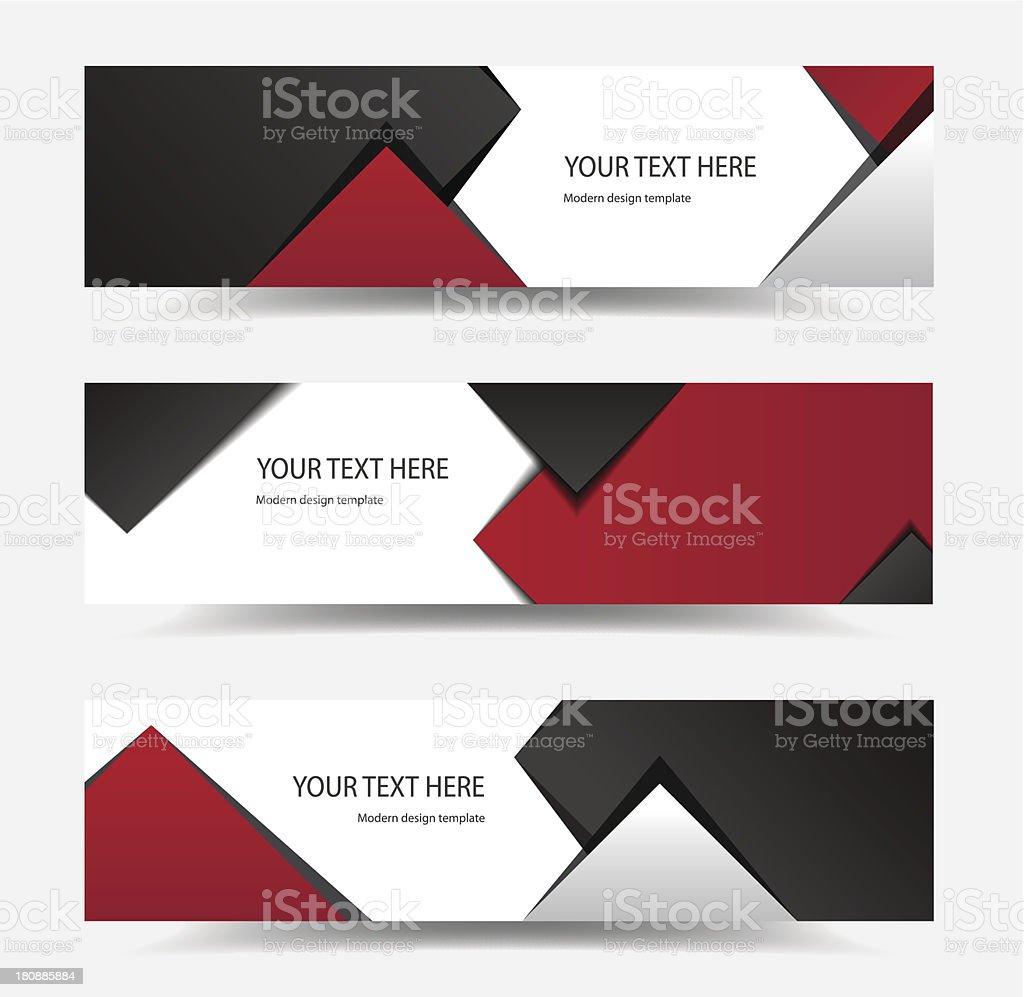 Modern Design Banners royalty-free stock vector art