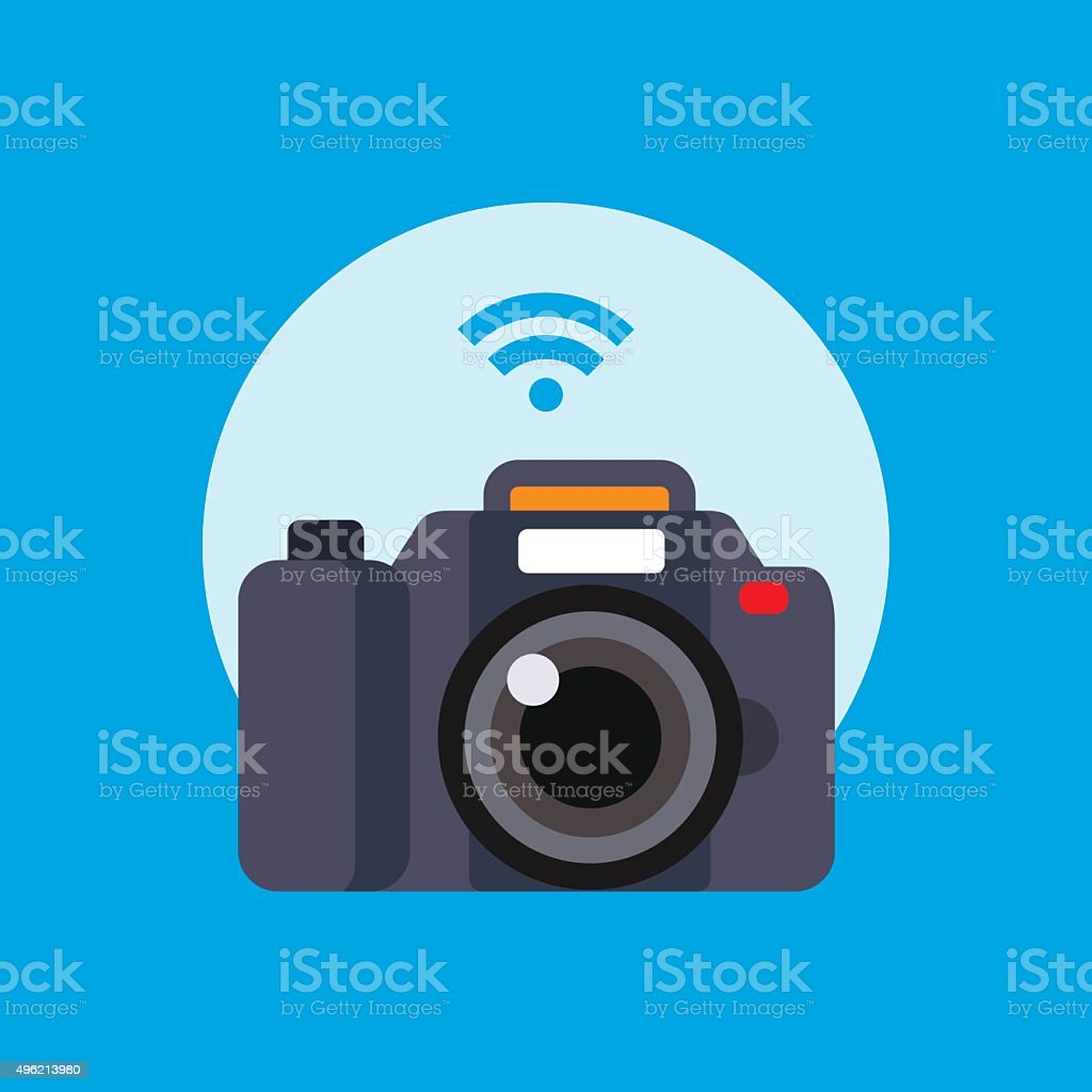 modern design flat camera vector illustration vector art illustration