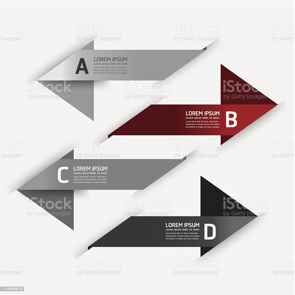 Modern Design info graphics arrow banner style royalty-free stock vector art