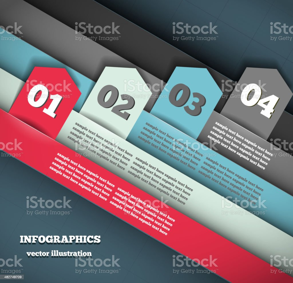 Modern Design Infographic Template royalty-free stock vector art
