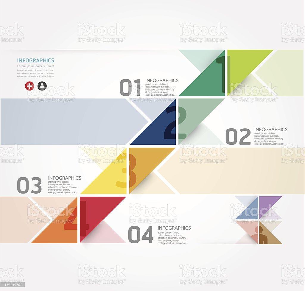 modern Design infographics banner style royalty-free stock vector art