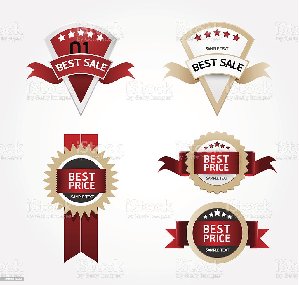 Modern Design Labels banners royalty-free stock vector art