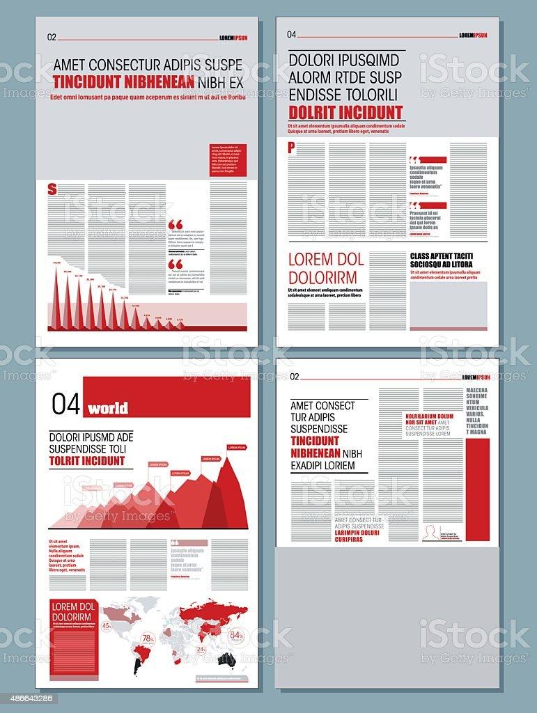 Modern design newspaper vector art illustration
