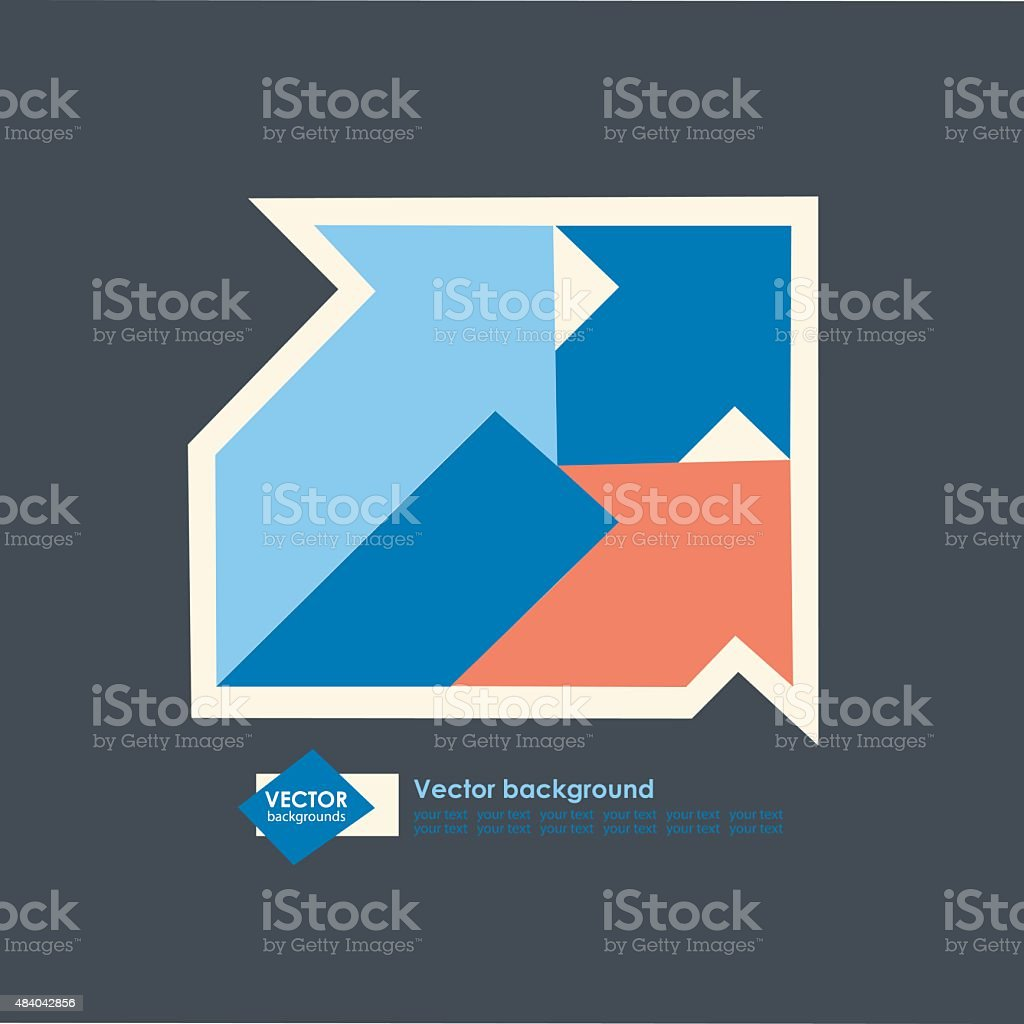 modern design of a template with color arrows vector art illustration