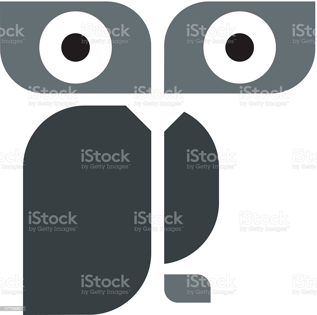 Modern design owl logo template vector art illustration