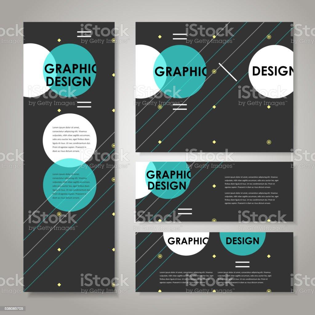modern design template for banners set vector art illustration