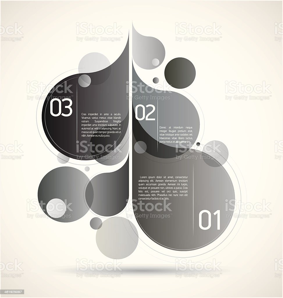Modern Drops Background royalty-free stock vector art
