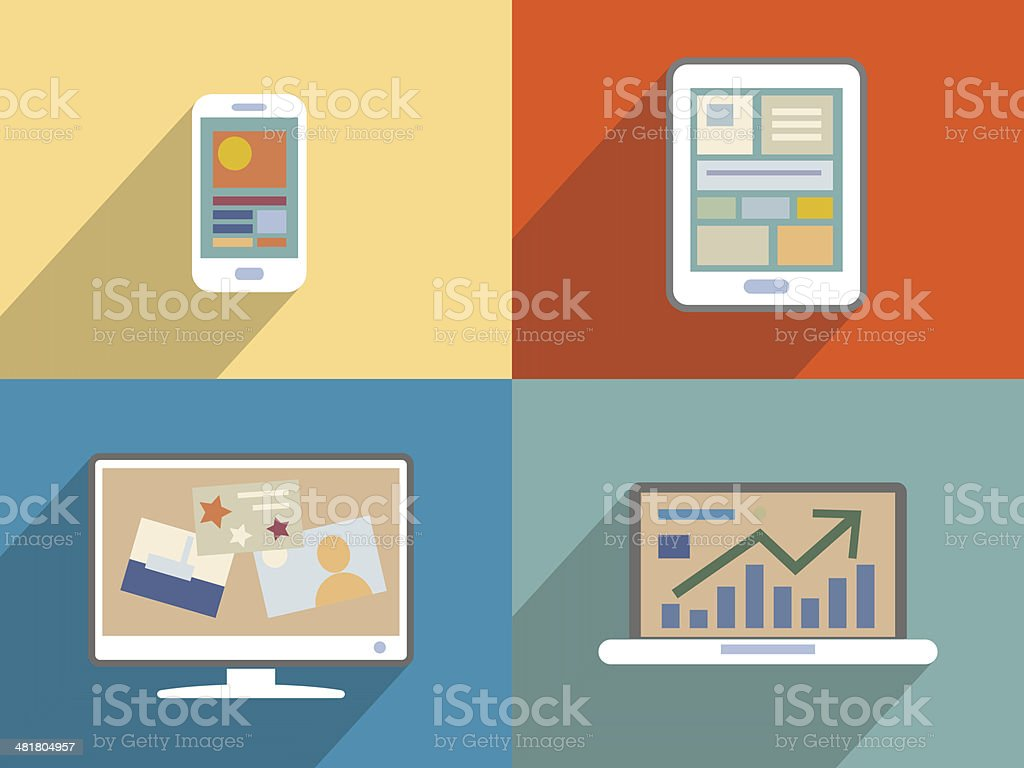 modern Electronic Devices royalty-free stock vector art